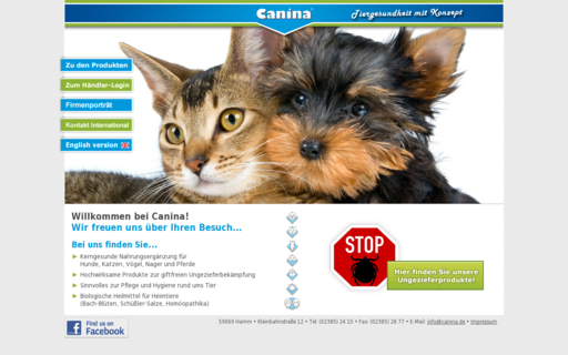 Access canina.de using Hola Unblocker web proxy