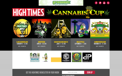 Access cannabiscup.com using Hola Unblocker web proxy