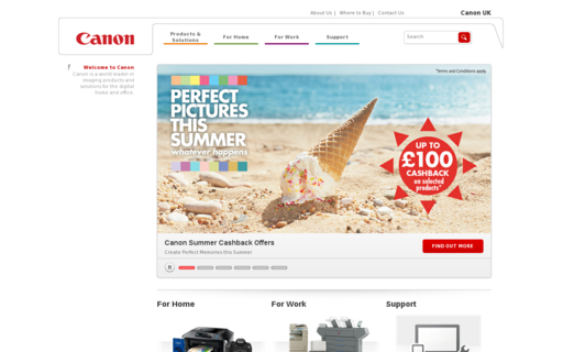 Access canon.co.uk using Hola Unblocker web proxy