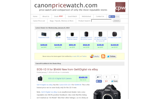 Access canonpricewatch.com using Hola Unblocker web proxy