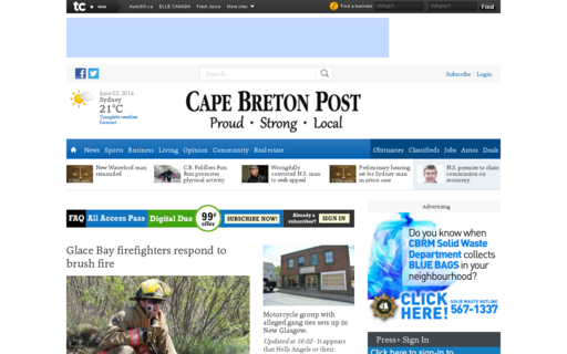 Access capebretonpost.com using Hola Unblocker web proxy