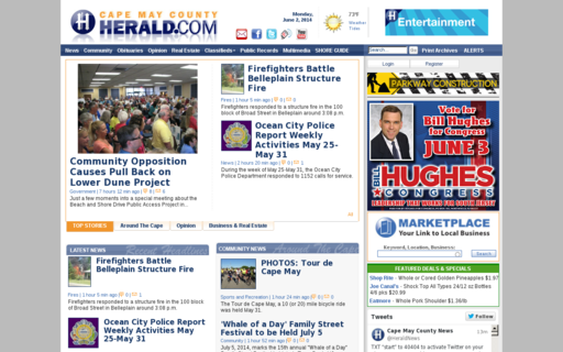 Access capemaycountyherald.com using Hola Unblocker web proxy