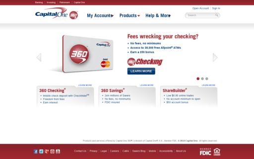 Access capitalone360.com using Hola Unblocker web proxy