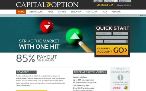 Access capitaloption.com using Hola Unblocker web proxy