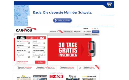 Access car4you.ch using Hola Unblocker web proxy