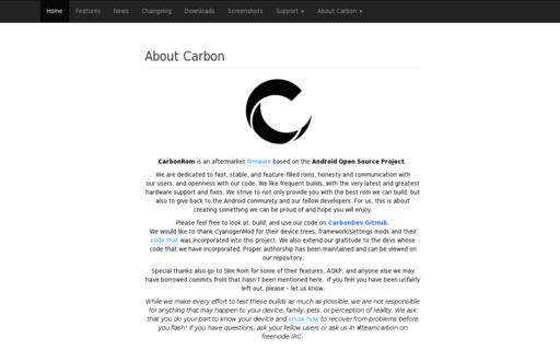 Access carbonrom.org using Hola Unblocker web proxy