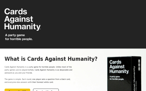 Access cardsagainsthumanity.com using Hola Unblocker web proxy