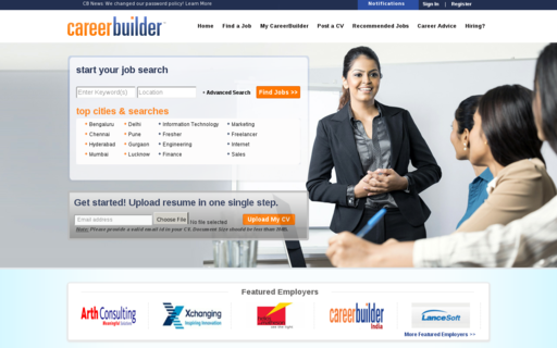 Access careerbuilder.co.in using Hola Unblocker web proxy