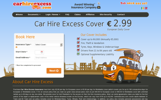 Access carhireexcess.com using Hola Unblocker web proxy