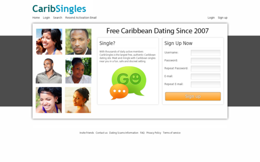 Access caribsingles.com using Hola Unblocker web proxy