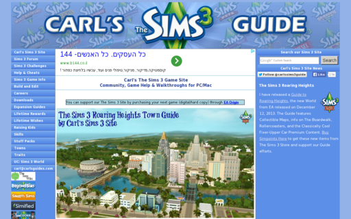 Access carls-sims-3-guide.com using Hola Unblocker web proxy