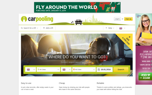 Access carpooling.co.uk using Hola Unblocker web proxy