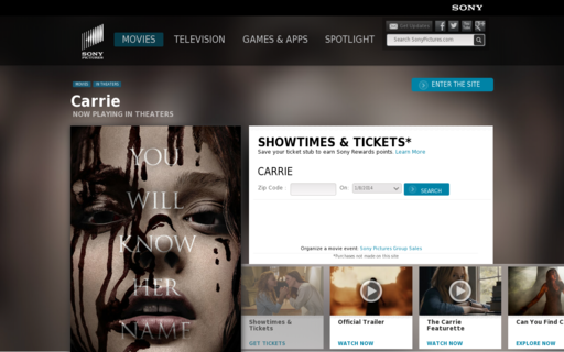Access carrie-movie.com using Hola Unblocker web proxy