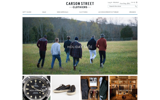 Access carsonstreetclothiers.com using Hola Unblocker web proxy