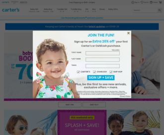 Access carters.com using Hola Unblocker web proxy