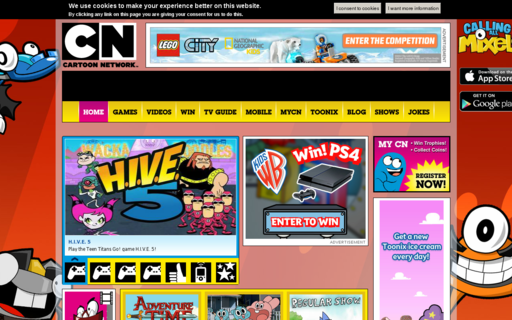 Access cartoonnetwork.co.uk using Hola Unblocker web proxy