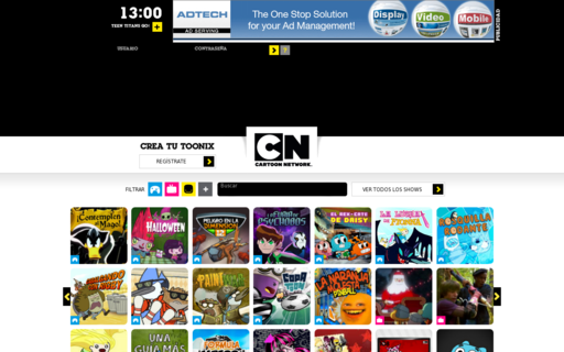 Access cartoonnetwork.com.ve using Hola Unblocker web proxy
