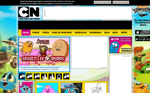 Access cartoonnetwork.es using Hola Unblocker web proxy