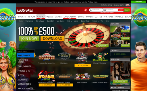 Access casino.ladbrokes.com using Hola Unblocker web proxy