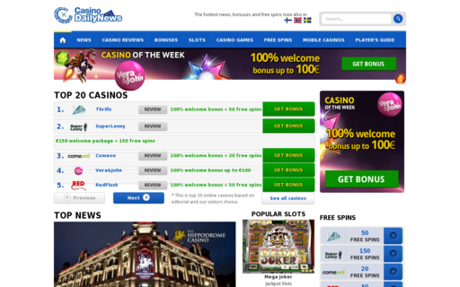 Access casinodailynews.eu using Hola Unblocker web proxy