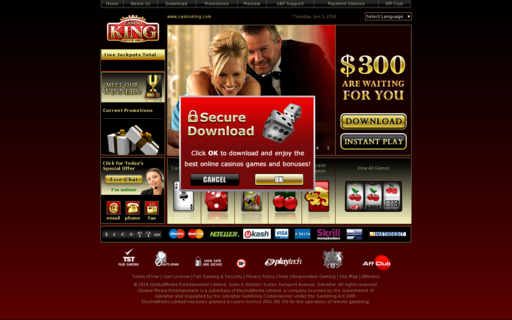 Access casinoking.com using Hola Unblocker web proxy