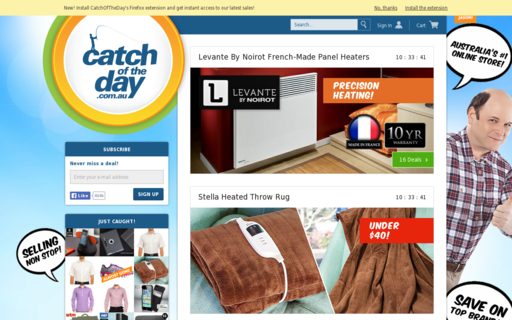 Access catchoftheday.com.au using Hola Unblocker web proxy