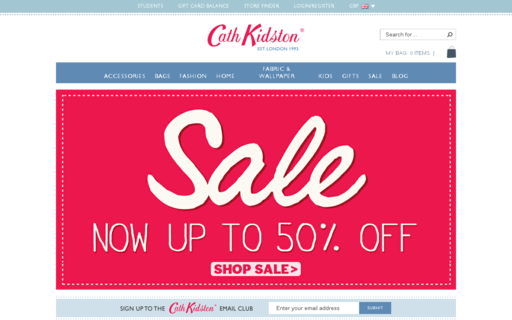 Access cathkidston.com using Hola Unblocker web proxy