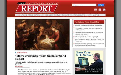 Access catholicworldreport.com using Hola Unblocker web proxy