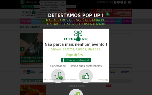 Access catracalivre.com.br using Hola Unblocker web proxy