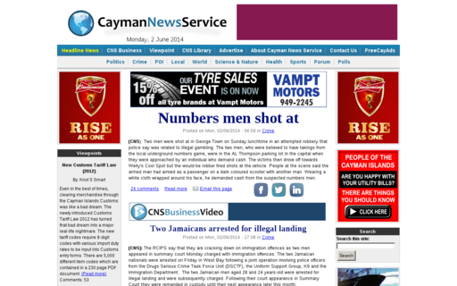Access caymannewsservice.com using Hola Unblocker web proxy