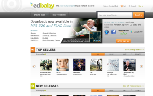 Access cdbaby.com using Hola Unblocker web proxy