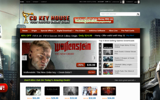 Access cdkeyhouse.com using Hola Unblocker web proxy