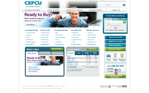 Access cefcu.com using Hola Unblocker web proxy