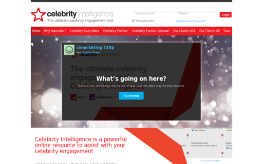 Access celebrityintelligence.com using Hola Unblocker web proxy