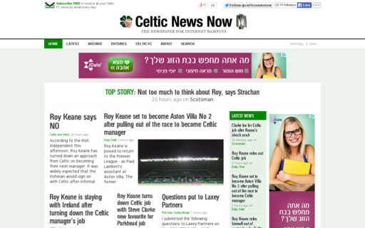 Access celticnewsnow.com using Hola Unblocker web proxy