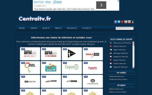 Access centraltv.fr using Hola Unblocker web proxy