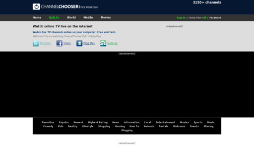 Access channelchooser.com using Hola Unblocker web proxy