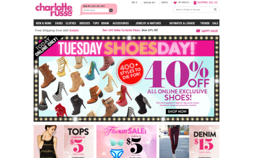 Access charlotterusse.com using Hola Unblocker web proxy