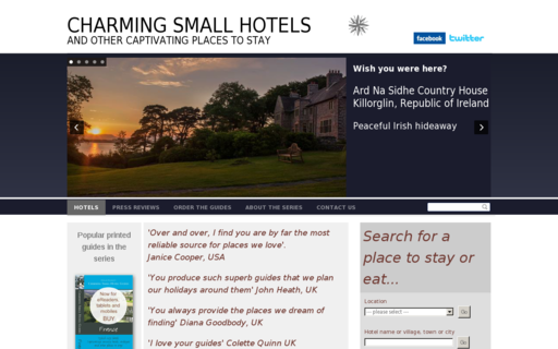 Access charmingsmallhotels.co.uk using Hola Unblocker web proxy