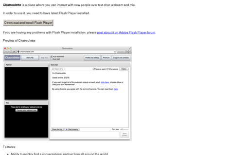 Access chatroulette.com using Hola Unblocker web proxy