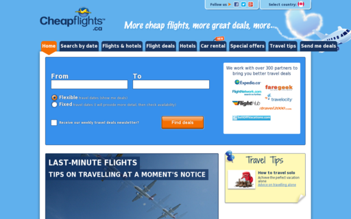 Access cheapflights.ca using Hola Unblocker web proxy
