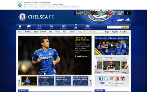 Access chelseafc.com using Hola Unblocker web proxy