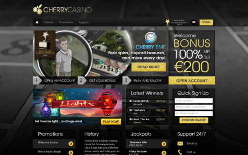 Access cherrycasino.com using Hola Unblocker web proxy
