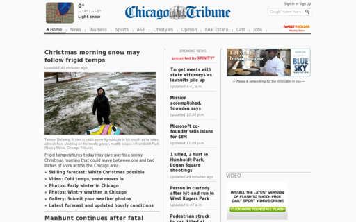 Access chicagotribune.com using Hola Unblocker web proxy
