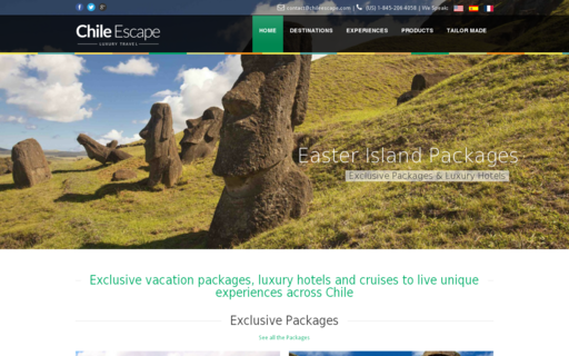 Access chileescape.com using Hola Unblocker web proxy