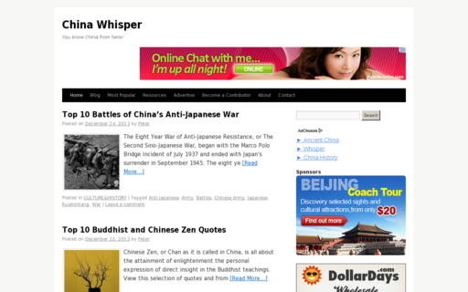 Access chinawhisper.com using Hola Unblocker web proxy