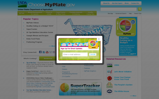 Access choosemyplate.gov using Hola Unblocker web proxy
