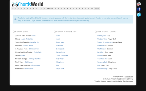 Access chordsworld.com using Hola Unblocker web proxy