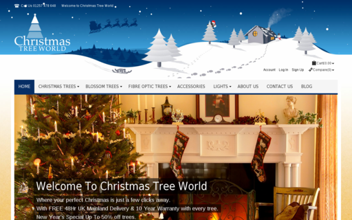 Access christmastreeworld.co.uk using Hola Unblocker web proxy