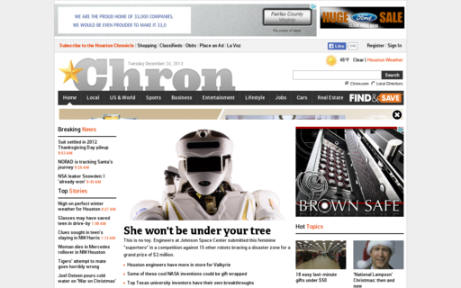 Access chron.com using Hola Unblocker web proxy